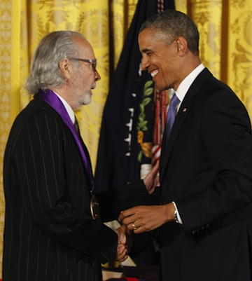 President Barack Obama awards the 2012 National Medal of Arts to Herb Alpert